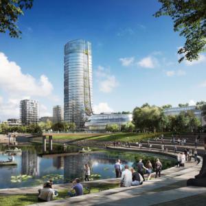MOL Campus: nová budova se bude tyčit 120 metrů nad Budapešť, nabídne úchvatný výhled