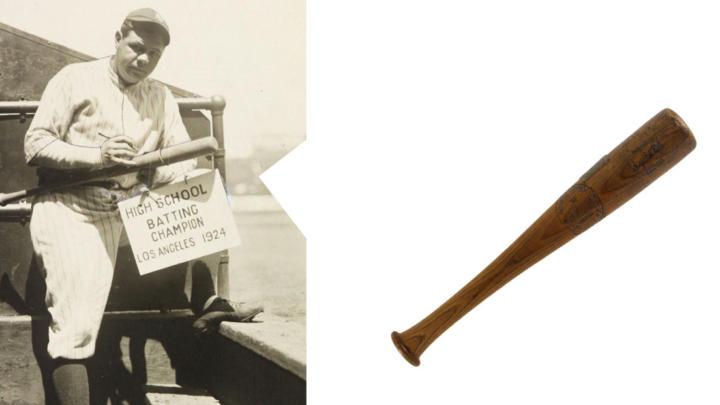 Národní poklad, baseballová pálka homerunu Babe Rutha z roku 1924, jde do dražby.