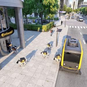 Zásilky budou doručovat autonomní vozidla a kurýrní roboty, tvrdí Continental