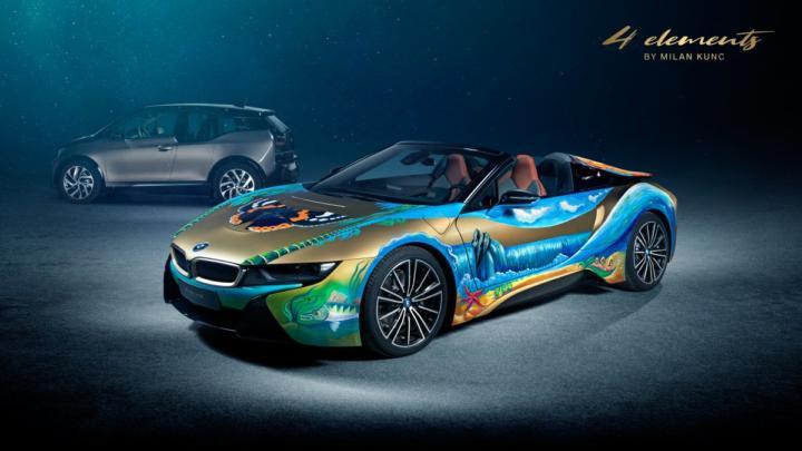 BMW i8 Roadster 4 elements by Milan Kunc bude dva měsíce k vidění v muzeu BMW v Mnichově