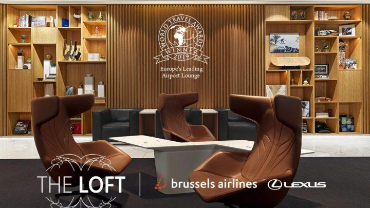 Salonek 'The Loft' na letišti v Bruselu, který připravil Lexus, byl vyhlášen za 'Přední letištní salonek roku 2019'