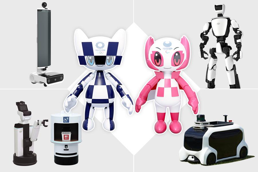 Na olympiádě v Tokiu napomůže pohybu pět typů robotů Toyota