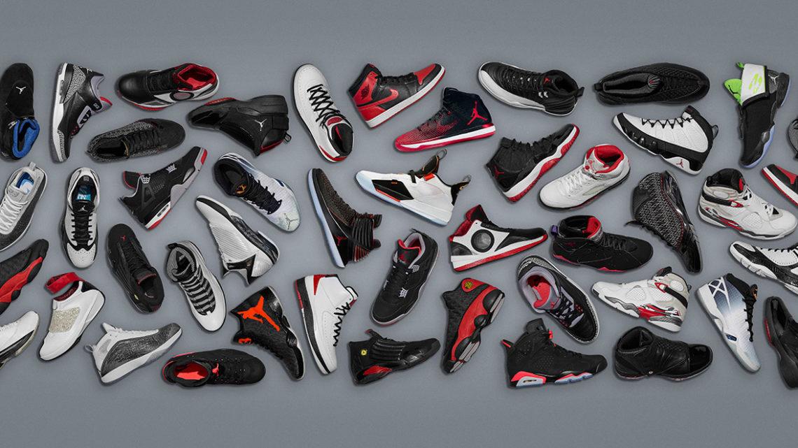 Basket shop nabízí Air Jordan boty, které už dávno nejsou jen botami na basket